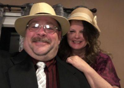 me and glenda in hats